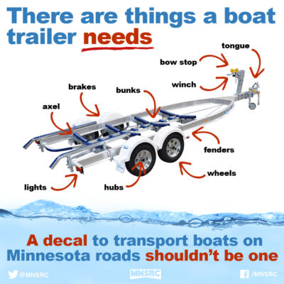 boat trailer decal
