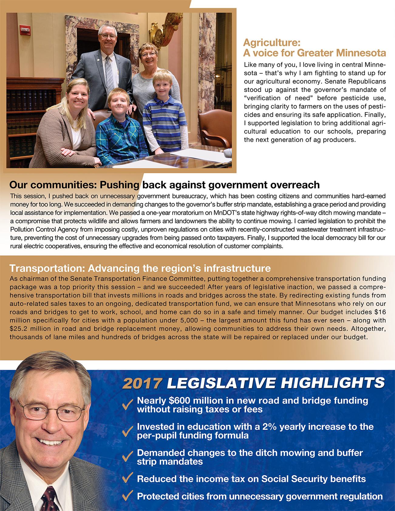 2017 legislative review from Sen. Scott Newman