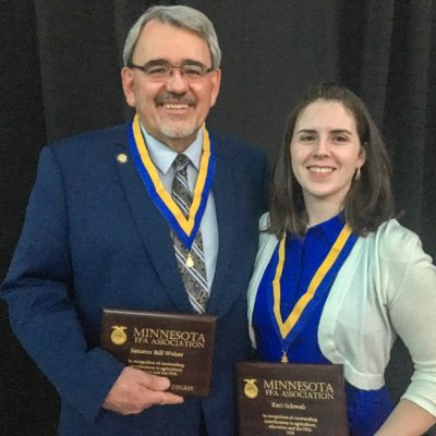 Senator Bill Weber and Kari Schwab