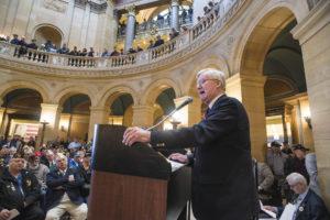 Bruce Anderson veterans rally speech