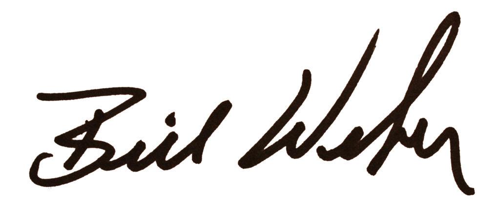 Senator Bill Weber signature