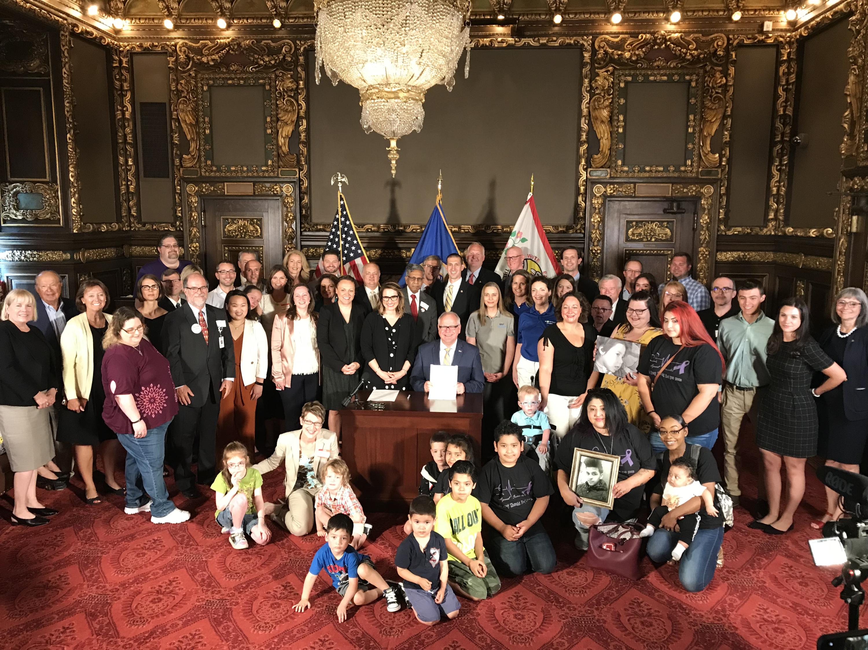Senator Miller rare disease signing