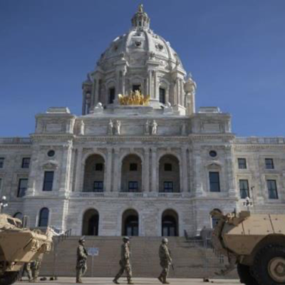 National Guard Members Protect the State Capitol